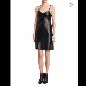 NWT Helmut Lang Calf Leather Mini Slip Dress $1195